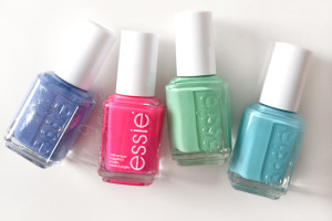 Essie Smooth Sailing, Bottle Service, First Timer & In The Cab-ana