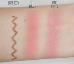 Urban Decay Scorch, Tarte Blisfull & Glisten