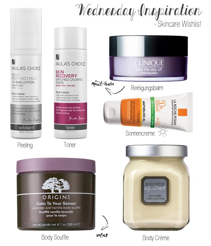 Wednesday Inspiration Skincare Wishlist