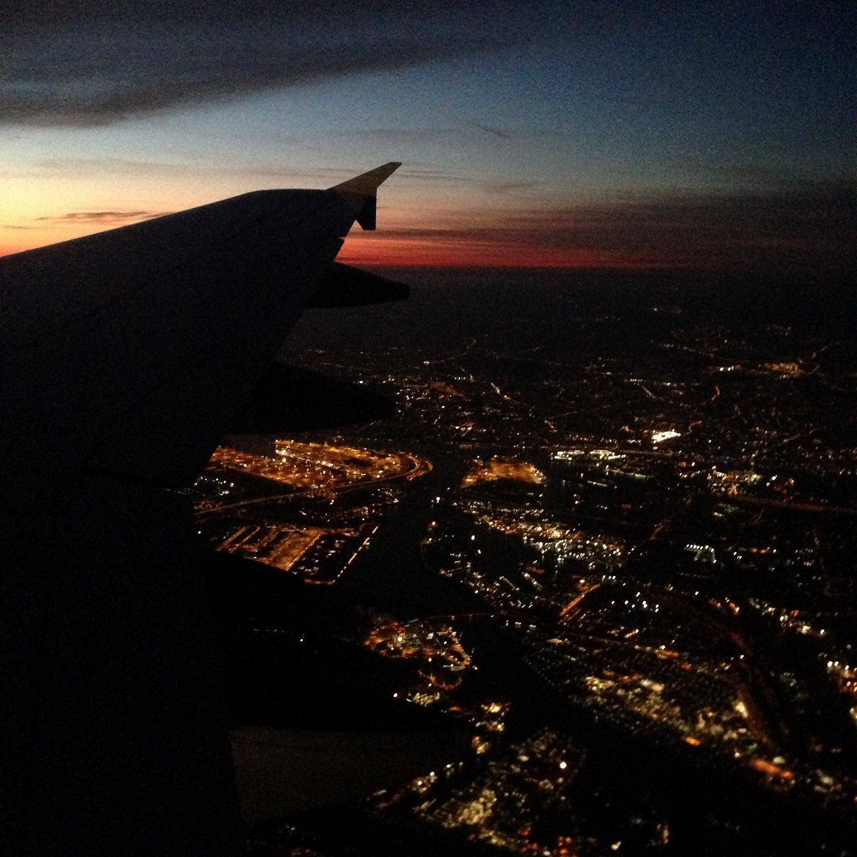 Hamburg Nacht Flug