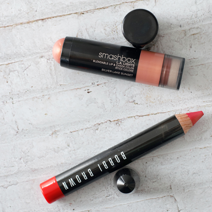 Smashbox LA Lights Silver Lake Sunset Bobbi Brown Art Stick Hot Orange klein
