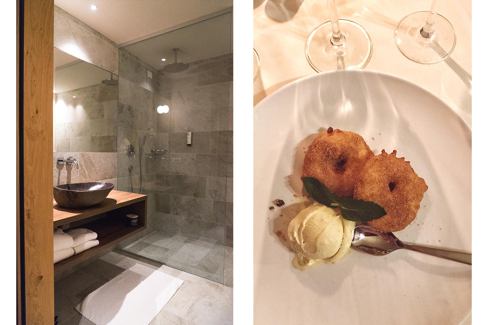 Hotel Christof Badezimmer & Dessert
