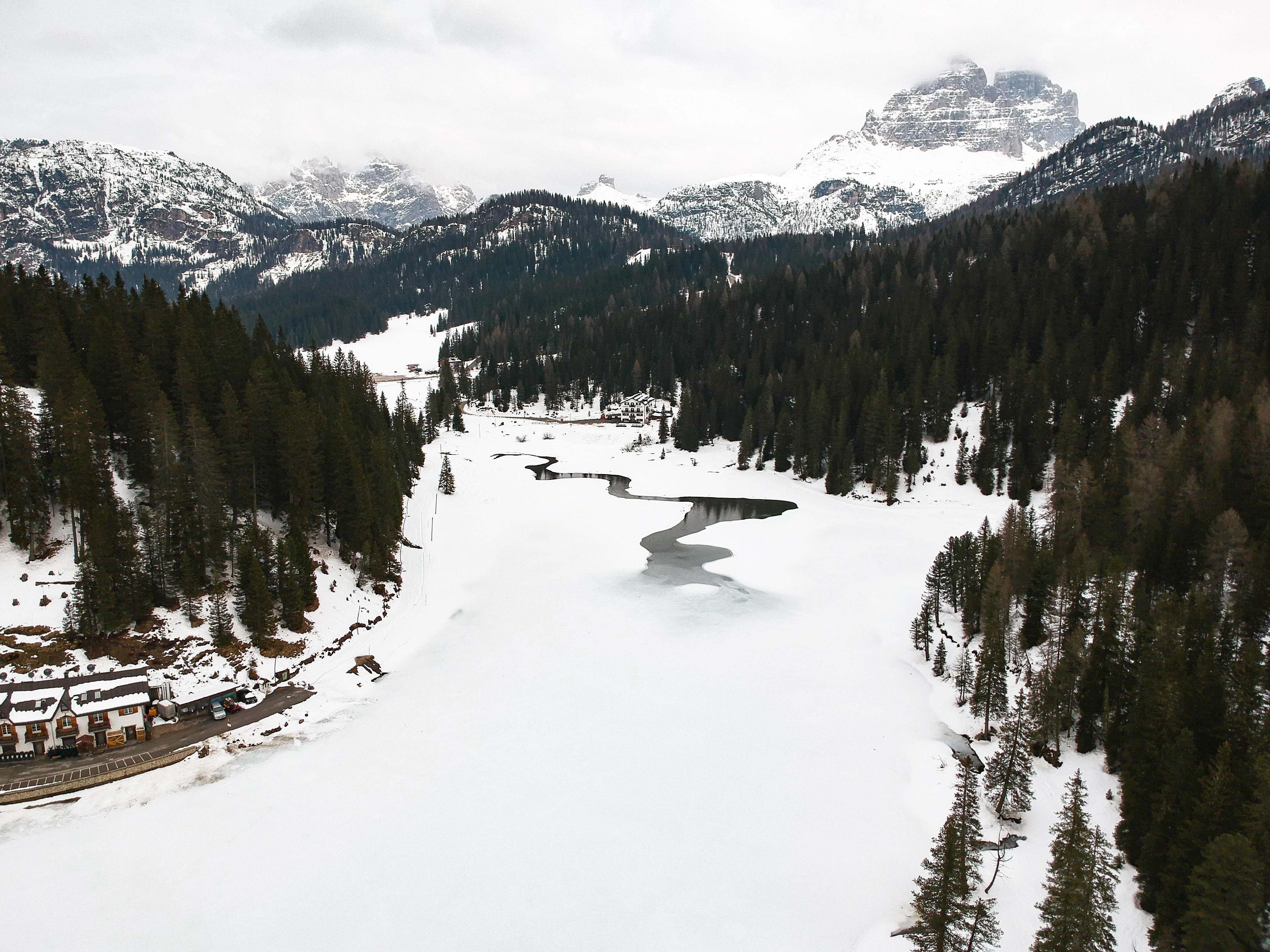 Lago di Misurina Drone Shot